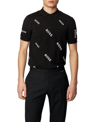 Hugo Boss  Pamuklu Slim Fit Polo T Shirt Erkek Polo 50435783 001 Siyah